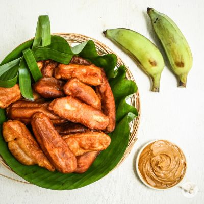Banane verzi prăjite