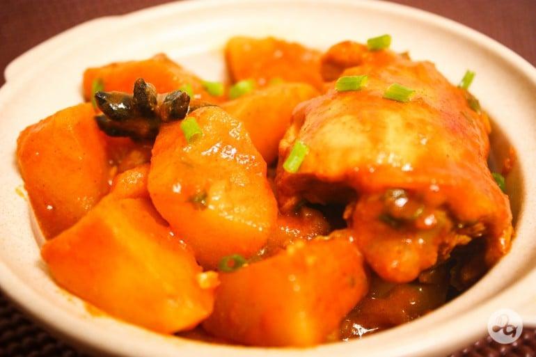 Farfurie cu curry de pui