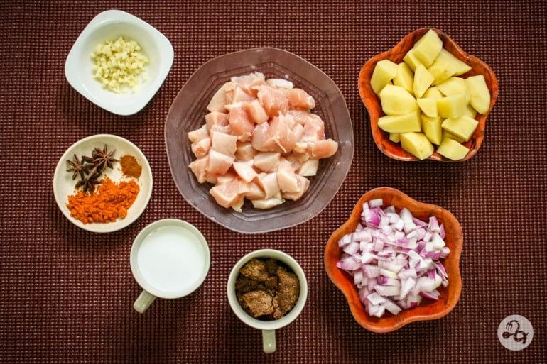 Ingrediente curry premium cu pui