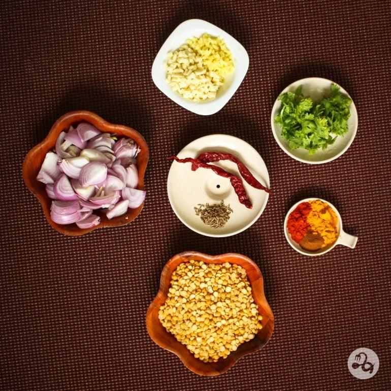 Ingrediente dhal indian cu mazare