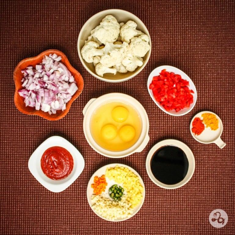 Ingrediente pentru gobi manciurian